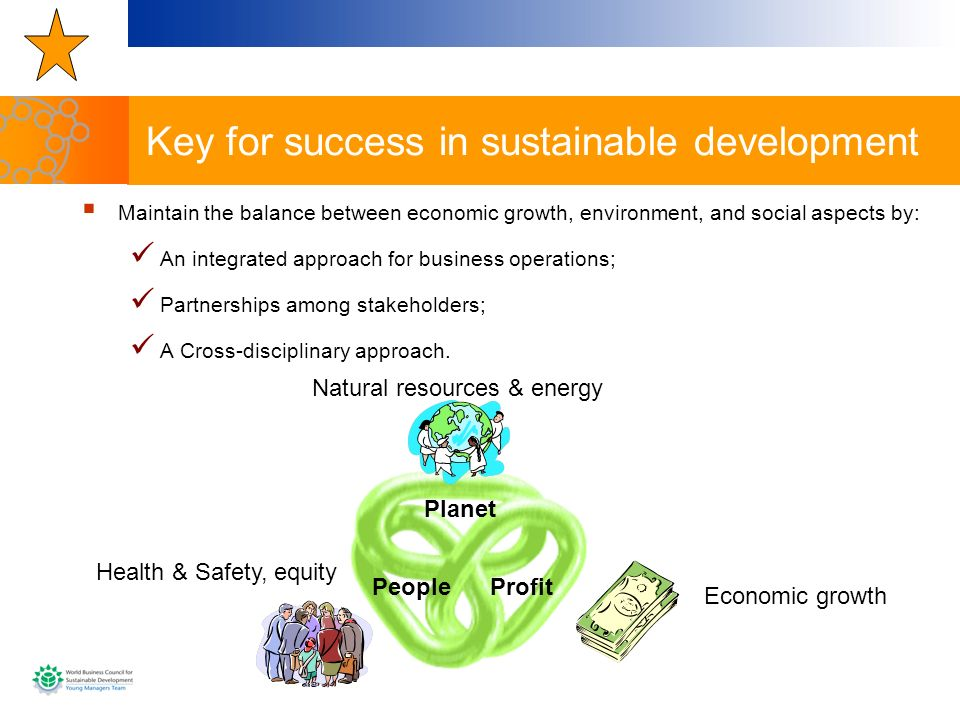 Key for success in sustainable development