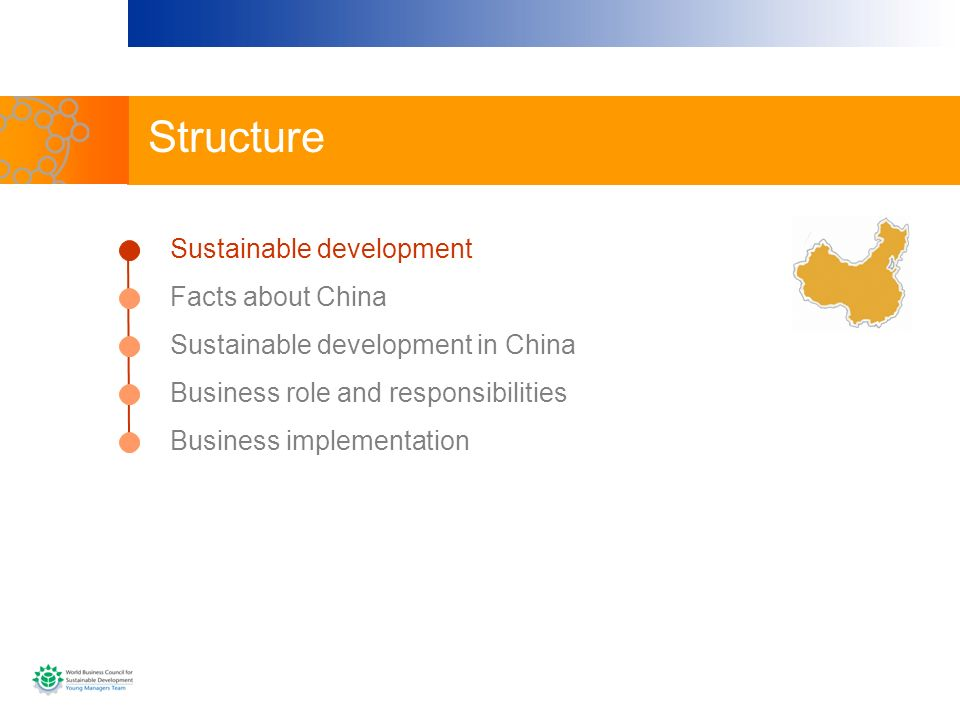 Structure Sustainable development Facts about China