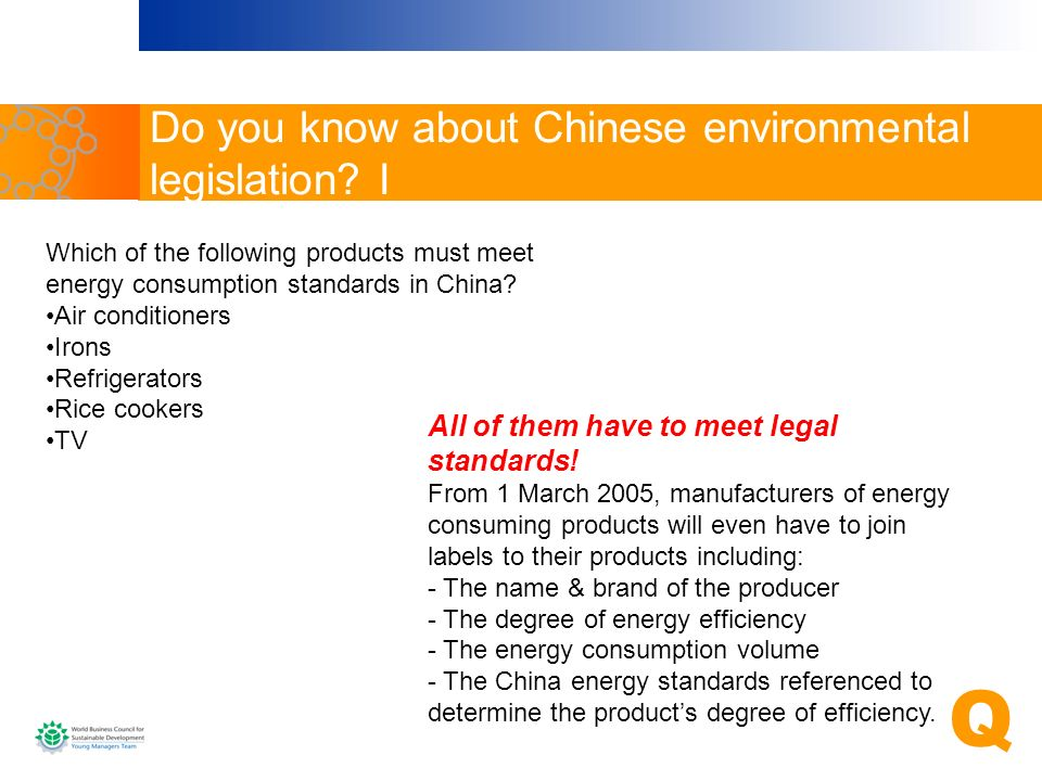 Do you know about Chinese environmental legislation I