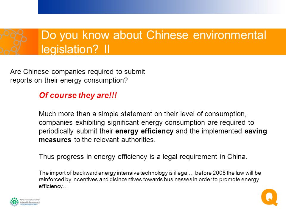 Do you know about Chinese environmental legislation II