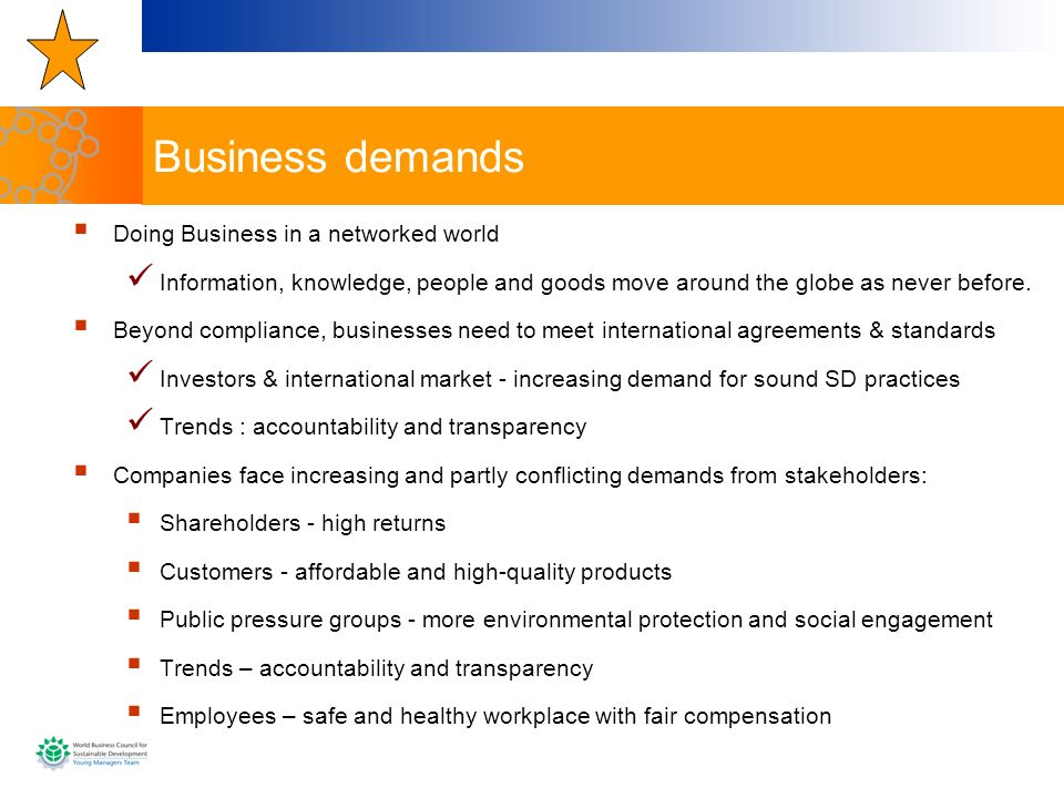 Business demands Doing Business in a networked world