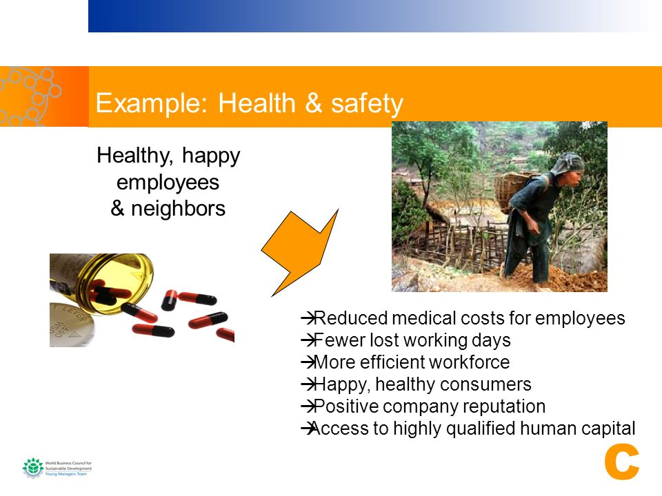 Example: Health & safety