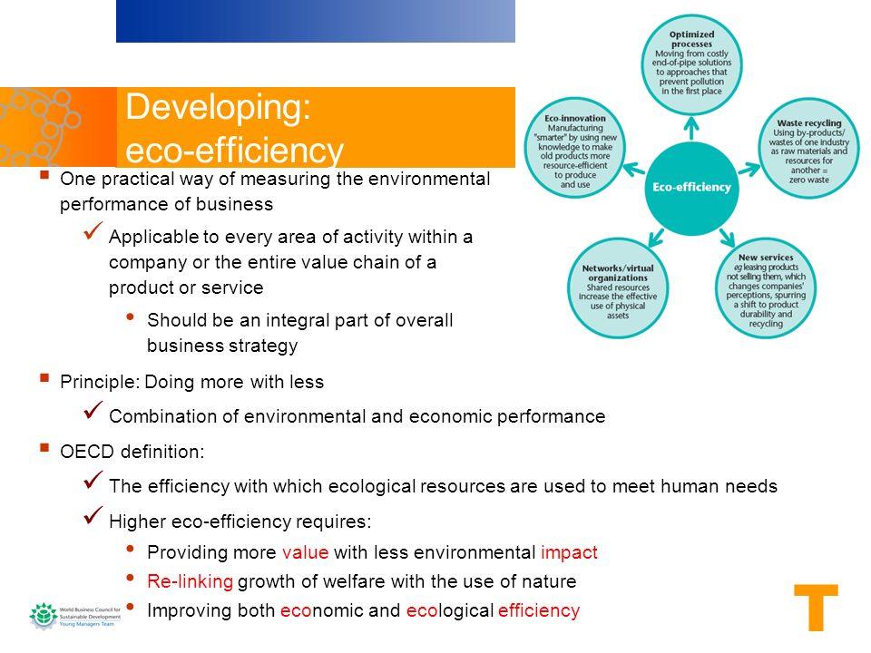 Developing: eco-efficiency