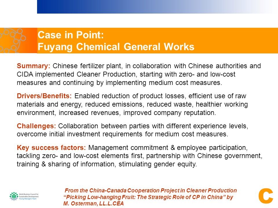 Case in Point: Fuyang Chemical General Works