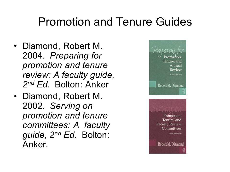 By Robert M. Diamond - Preparing for Promotion, Tenure ...