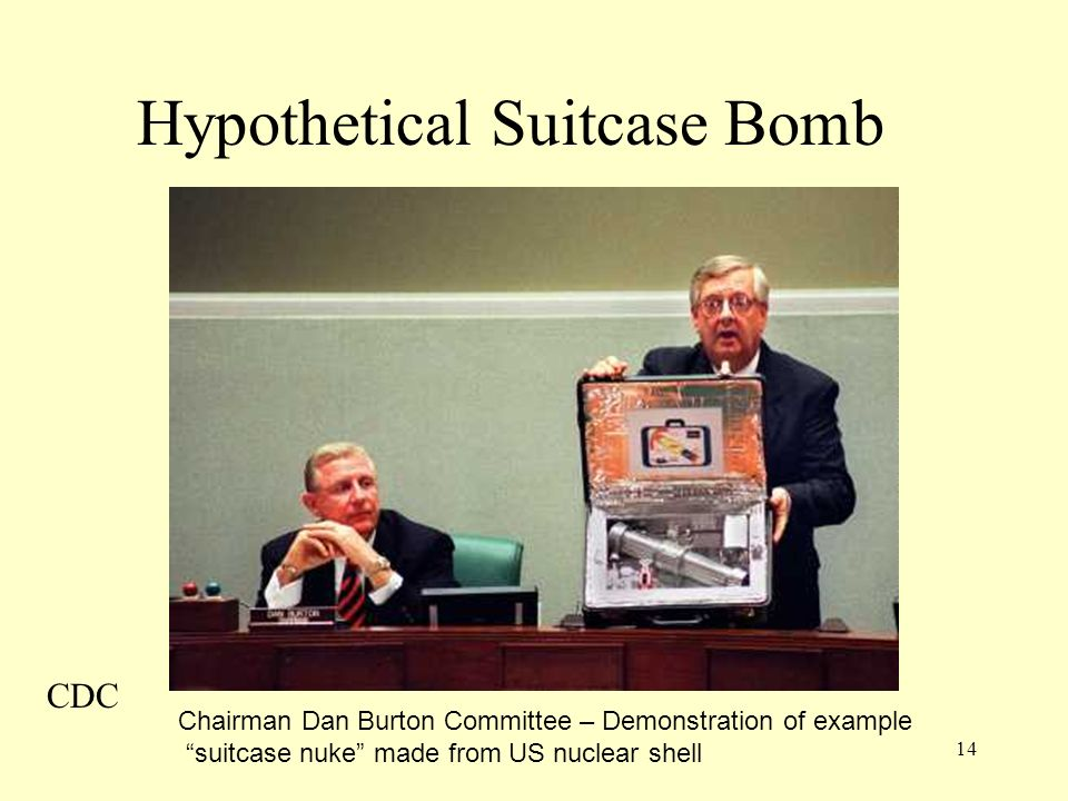 Hypothetical Suitcase Bomb