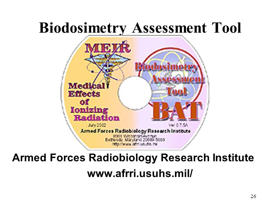 Biodosimetry Assessment Tool