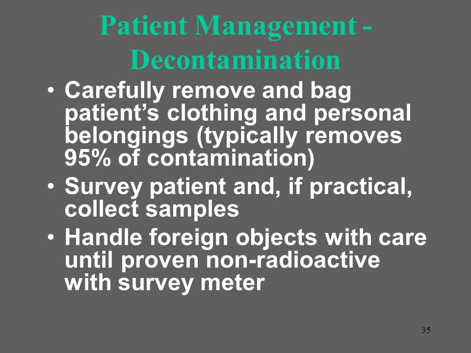 Patient Management - Decontamination