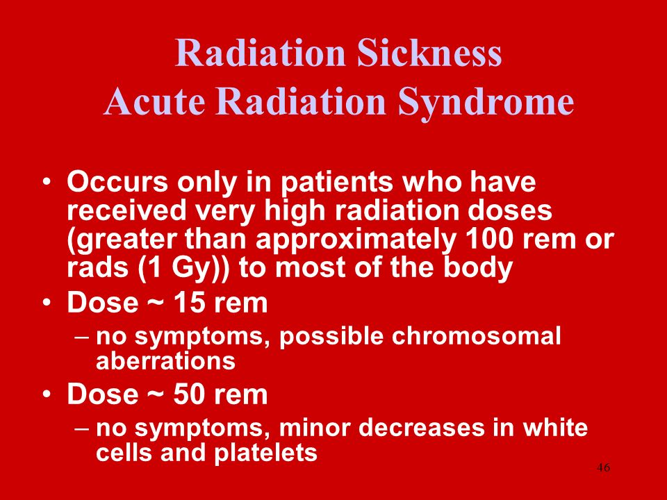 Radiation Sickness Acute Radiation Syndrome