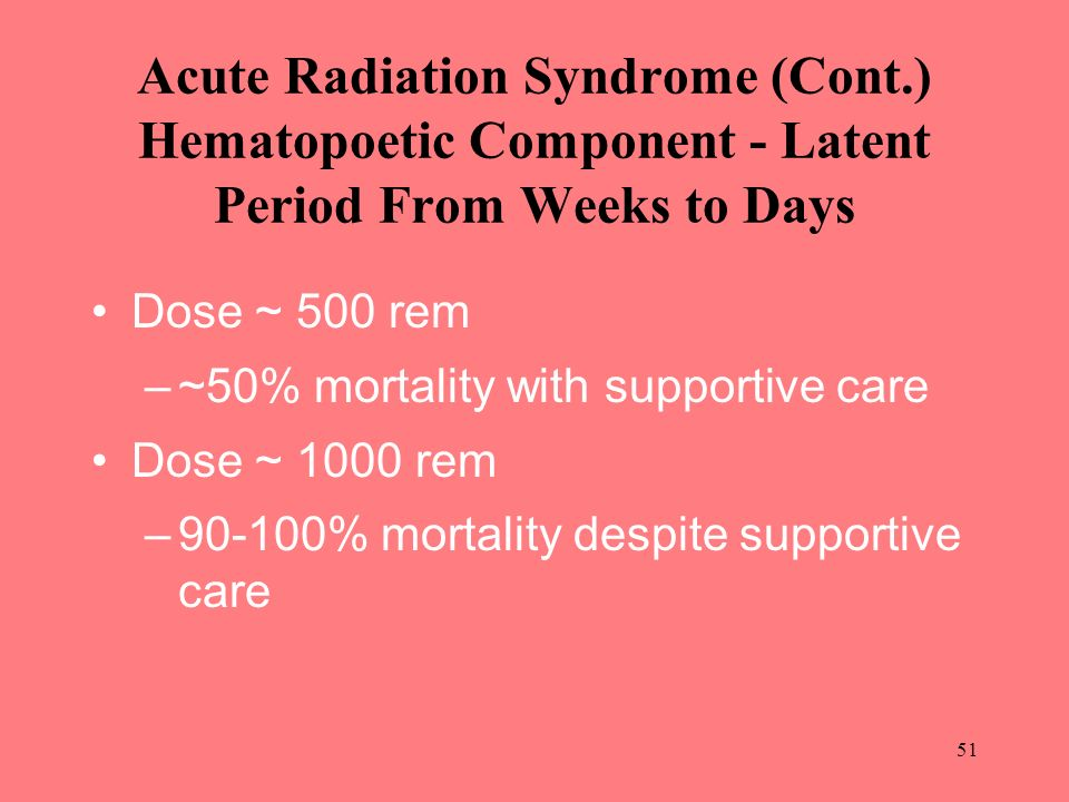 Acute Radiation Syndrome (Cont