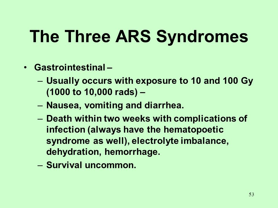 The Three ARS Syndromes