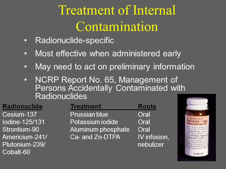 Treatment of Internal Contamination