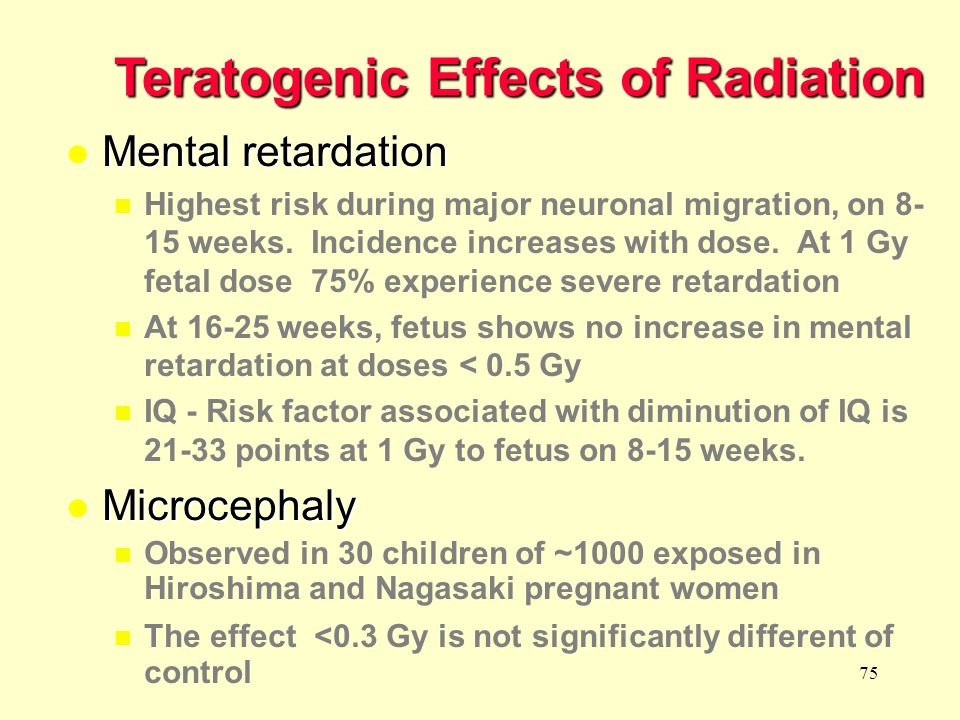 Teratogenic Effects of Radiation