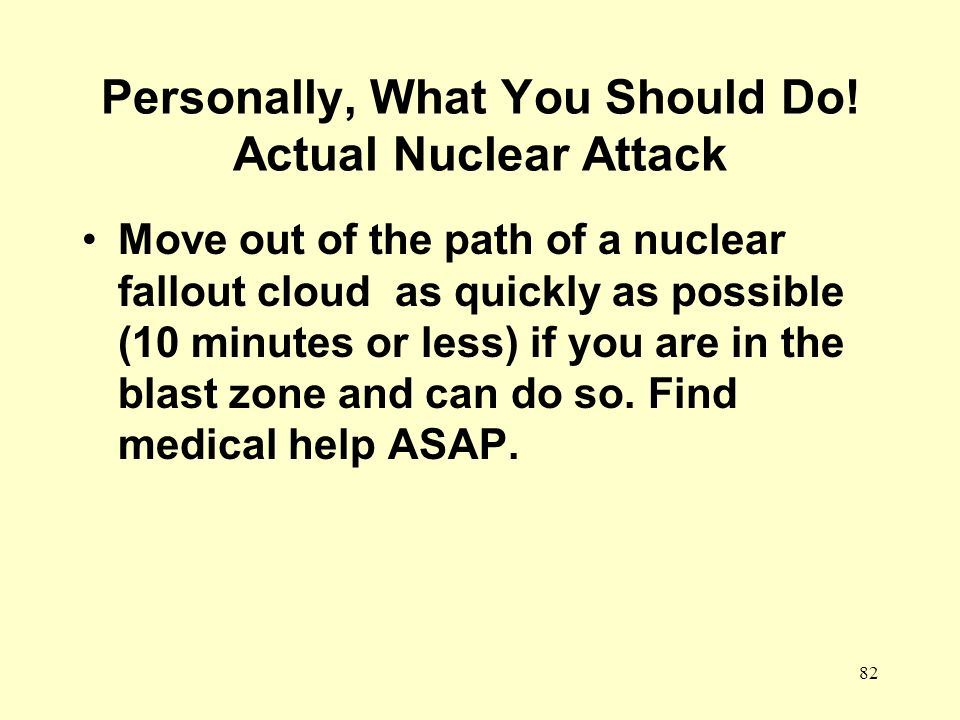 Personally, What You Should Do! Actual Nuclear Attack
