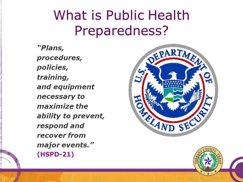 What is Public Health Preparedness