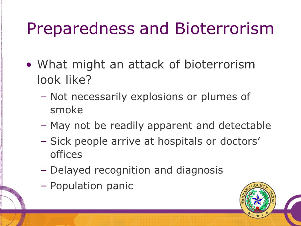 Preparedness and Bioterrorism