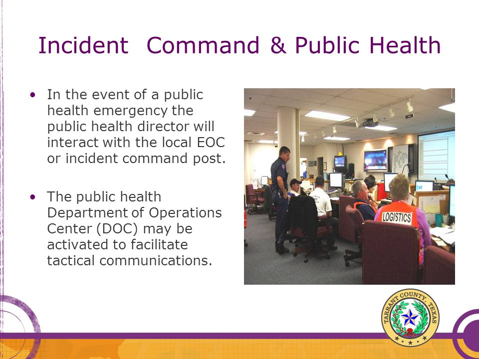 Incident Command & Public Health
