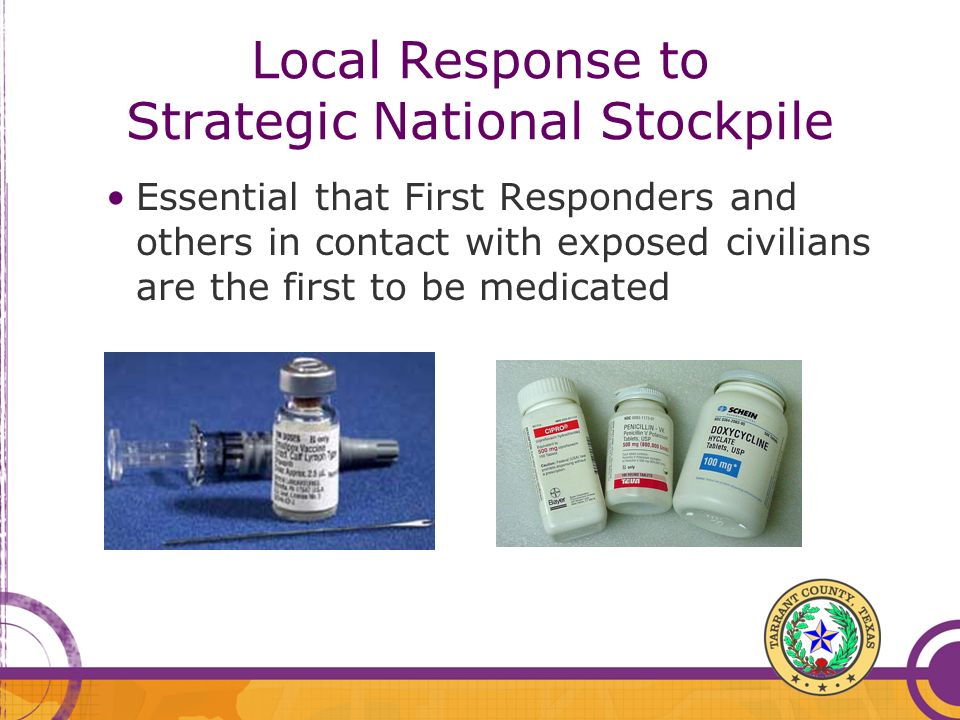 Local Response to Strategic National Stockpile