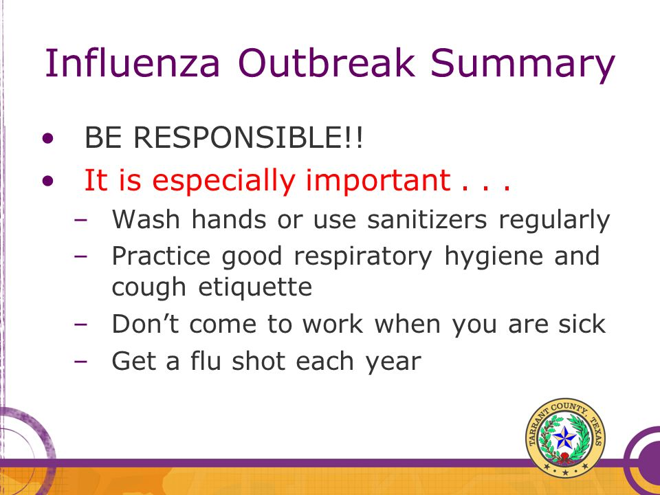 Influenza Outbreak Summary