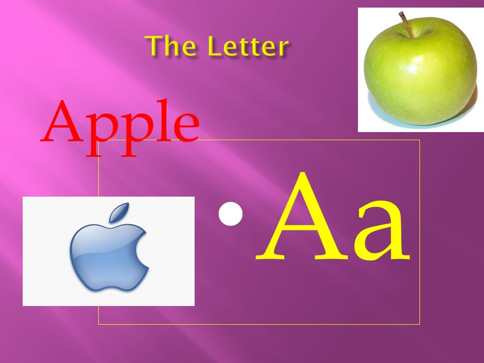 The Letter Apple Aa