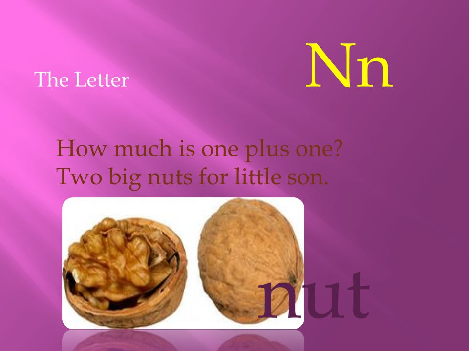 nut How much is one plus one Two big nuts for little son.