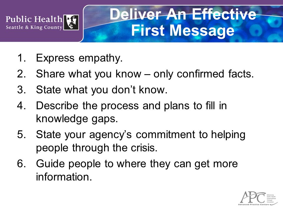 Deliver An Effective First Message