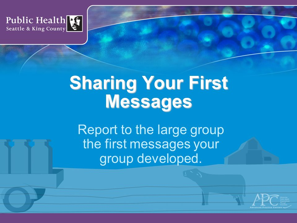 Sharing Your First Messages