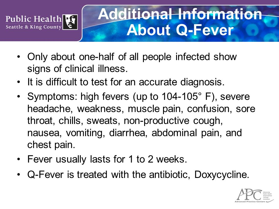 Additional Information About Q-Fever