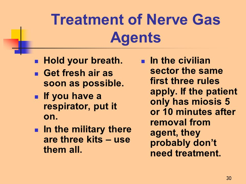 Treatment of Nerve Gas Agents