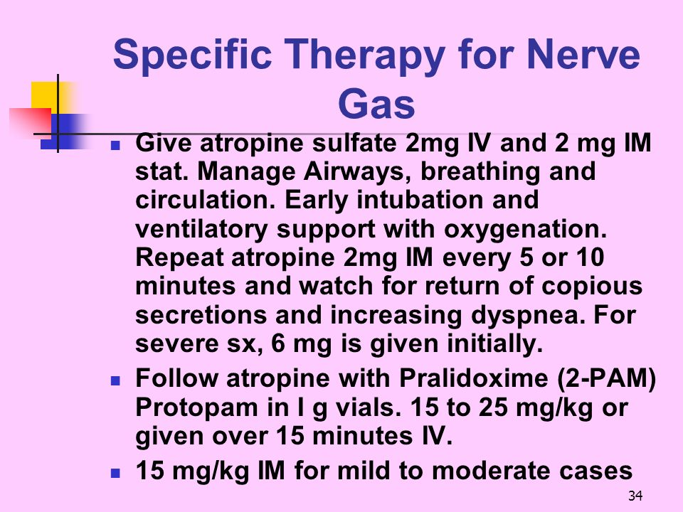 Specific Therapy for Nerve Gas