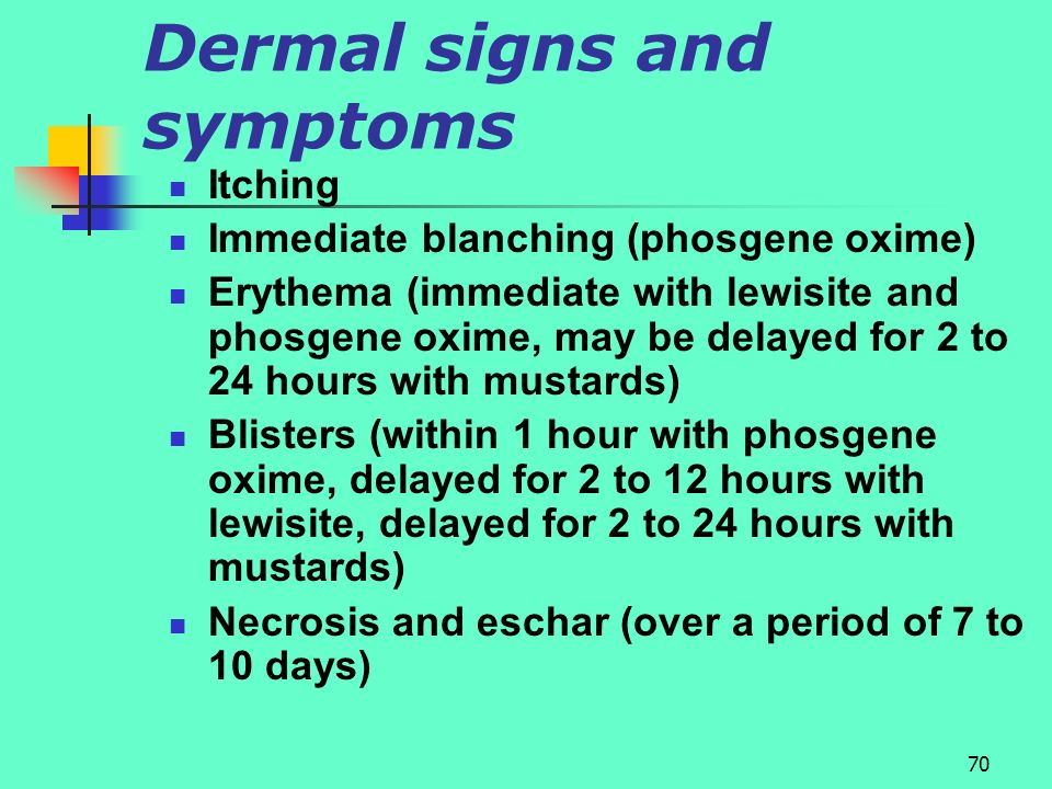 Dermal signs and symptoms