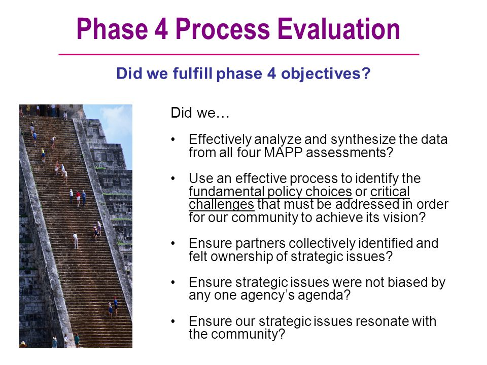 Phase 4 Process Evaluation