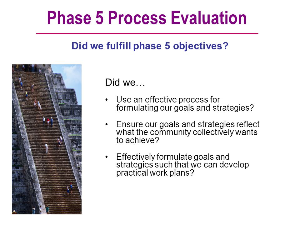 Phase 5 Process Evaluation