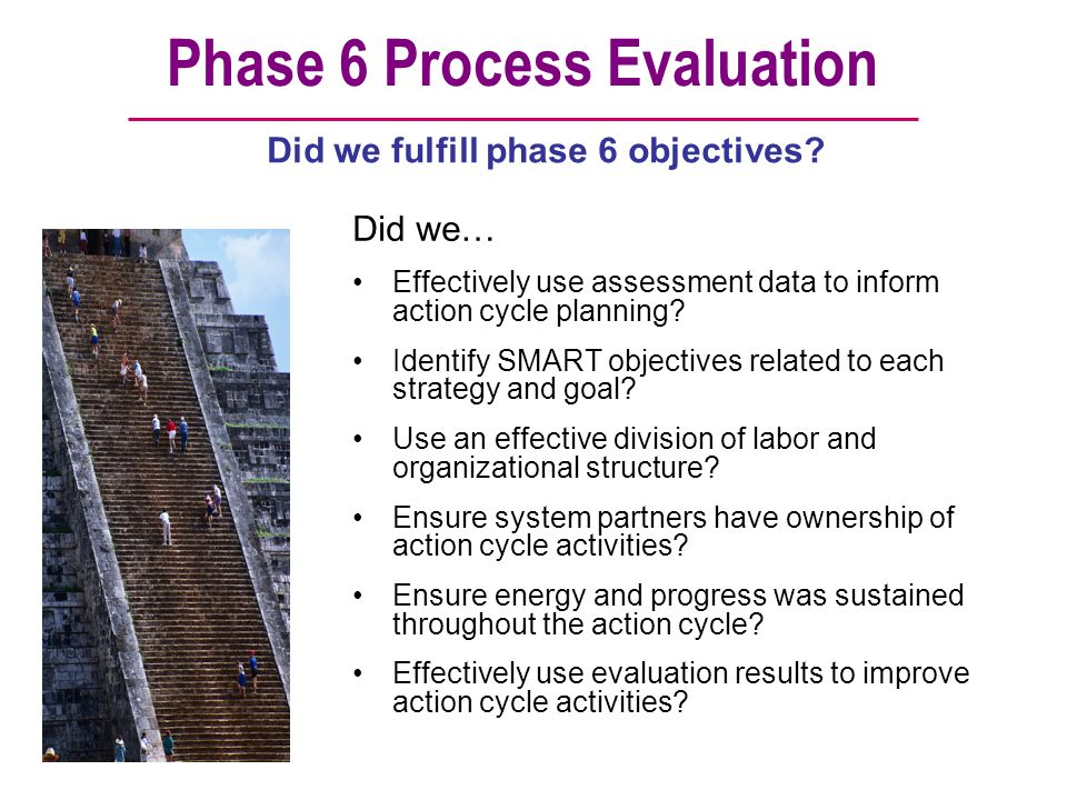Phase 6 Process Evaluation