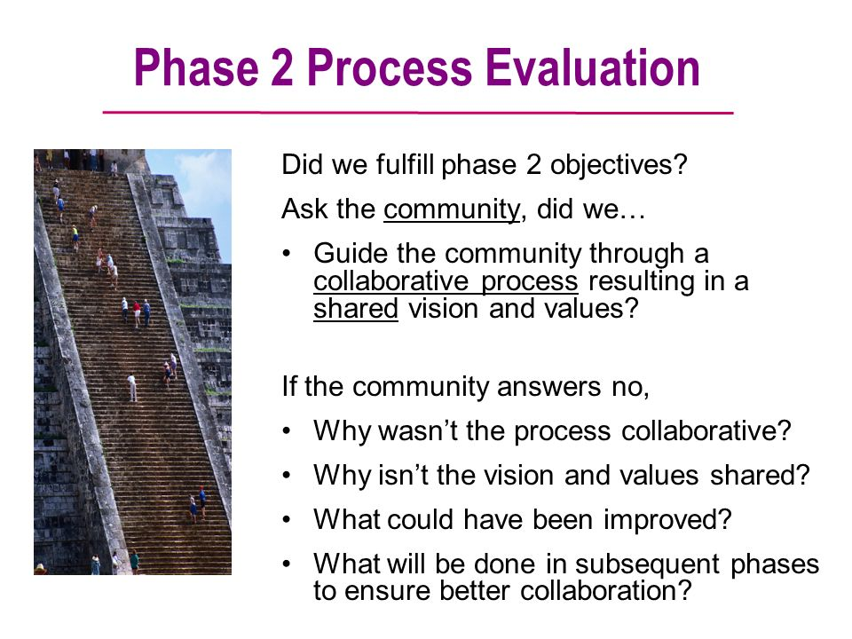 Phase 2 Process Evaluation