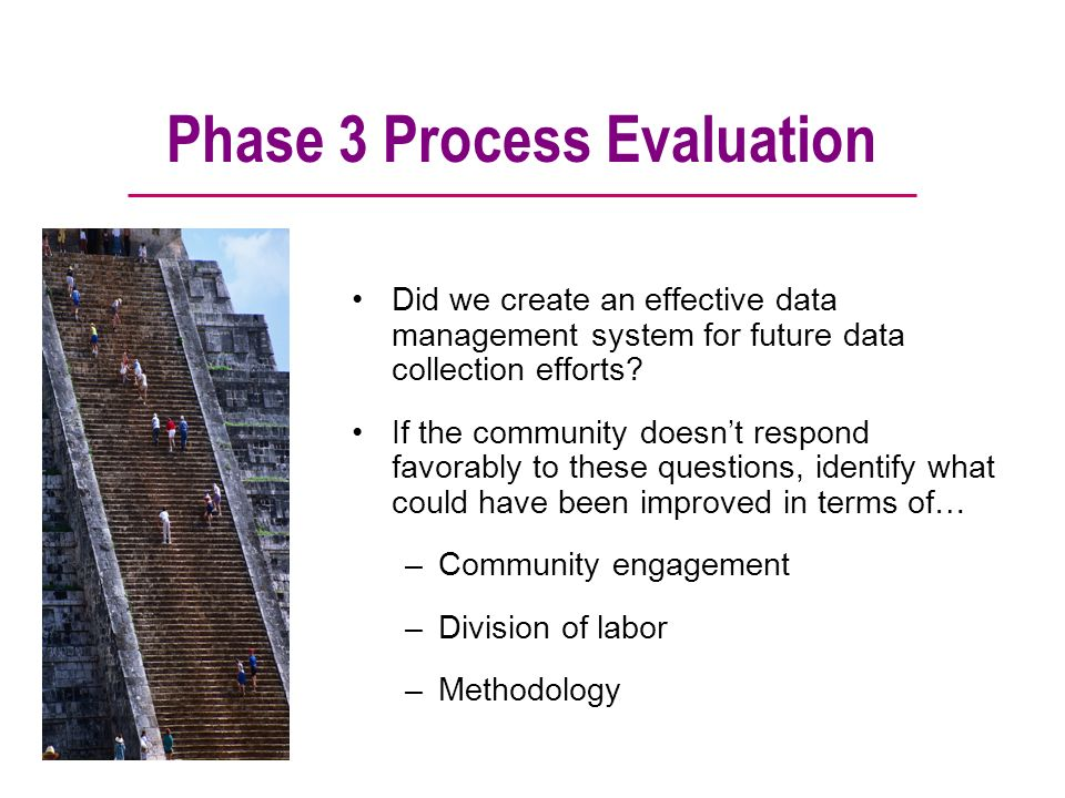 Phase 3 Process Evaluation