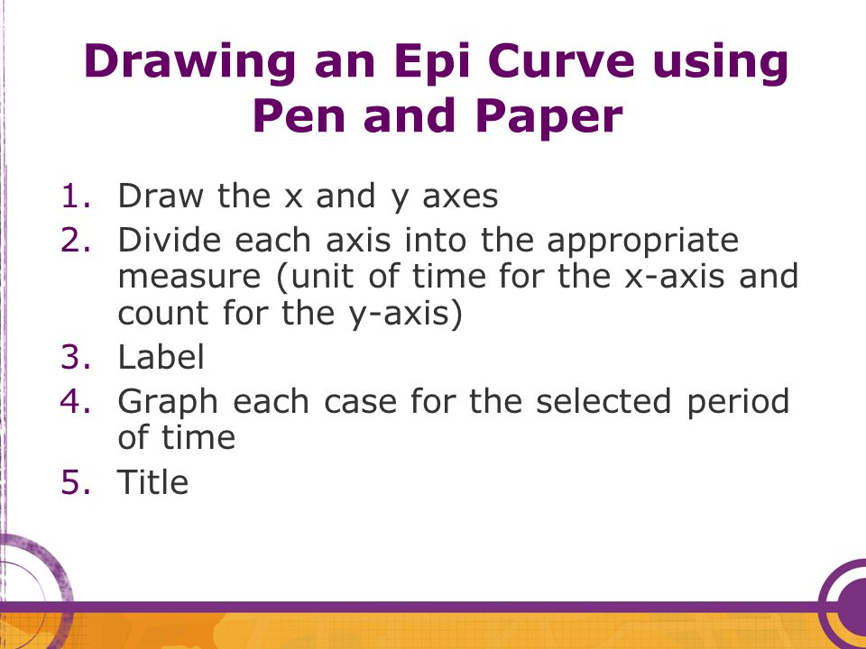 Drawing an Epi Curve using Pen and Paper