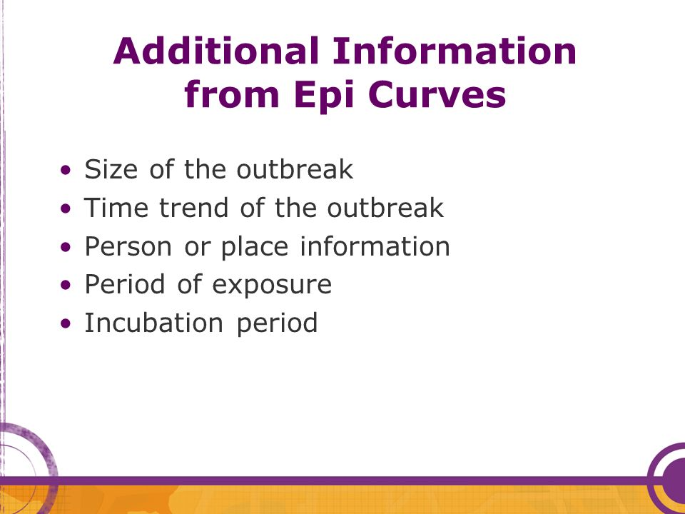 Additional Information from Epi Curves