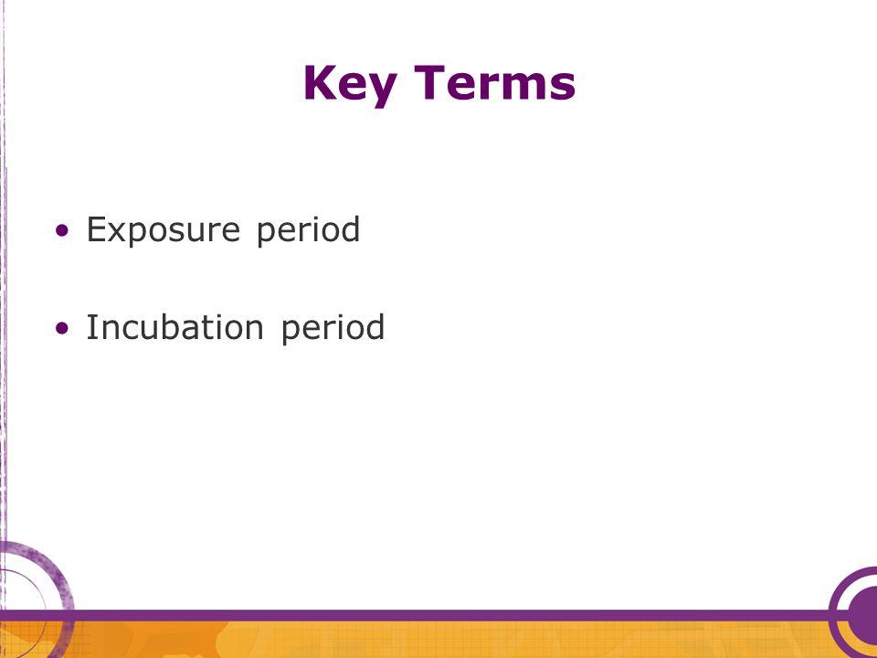 Key Terms Exposure period Incubation period