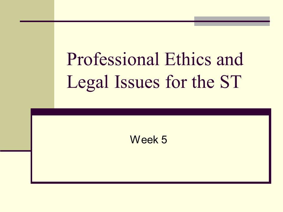 legal ethical and professional issues Ethical standards for human services professionals  although ethical codes  are not legal documents, they may be used to address issues related to the.