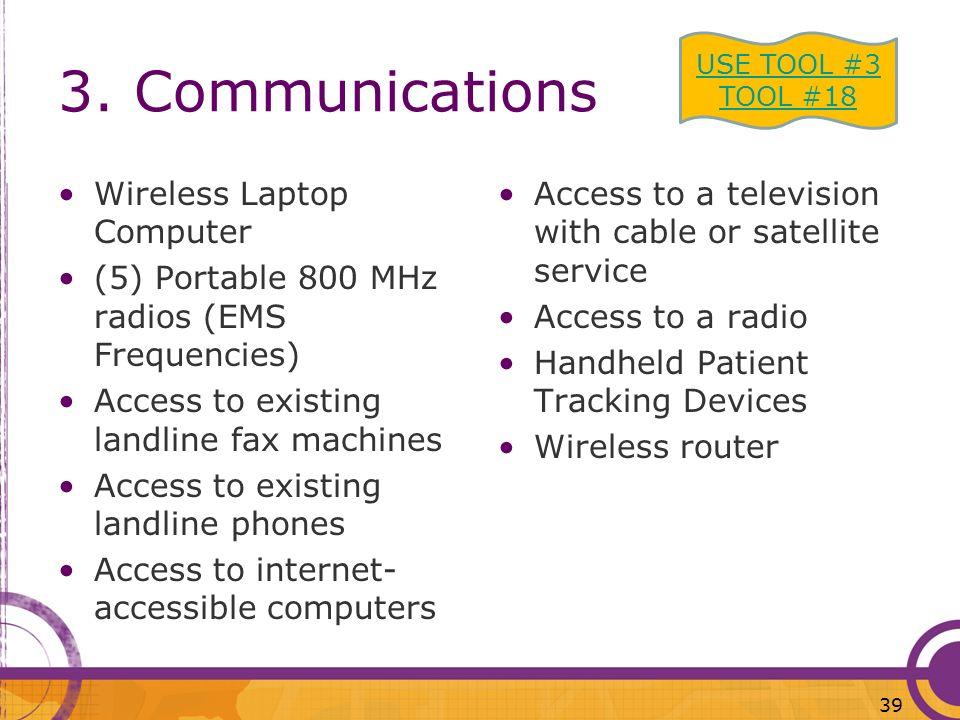 3. Communications Wireless Laptop Computer