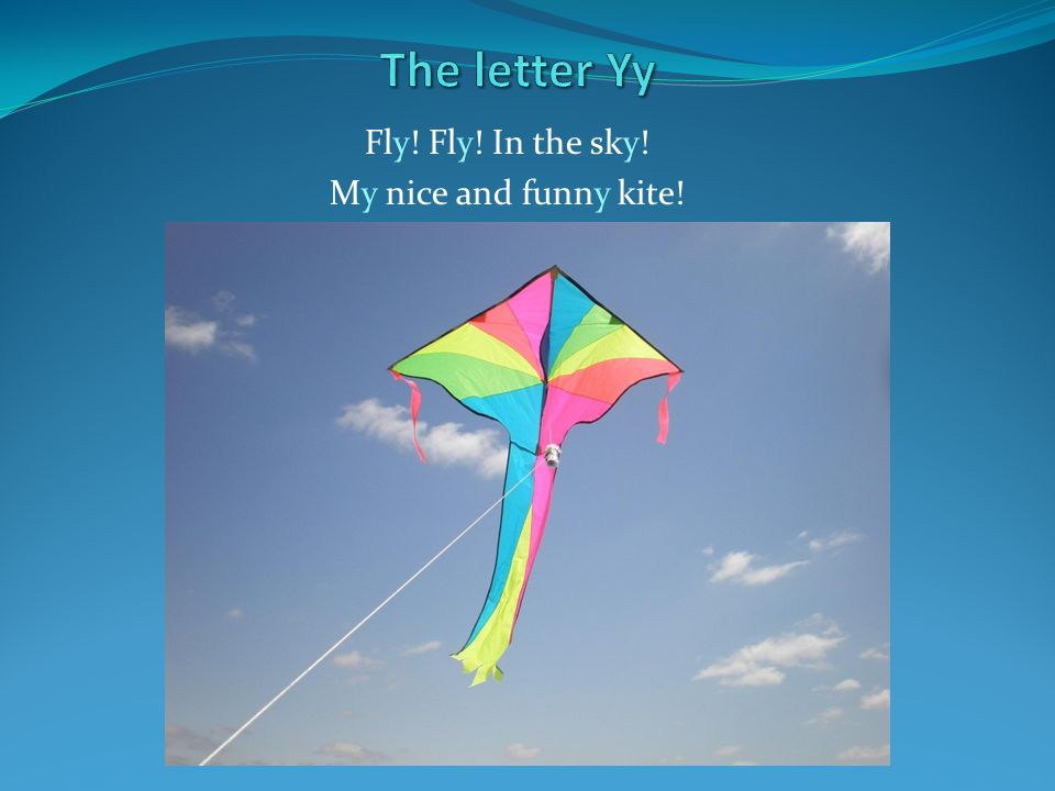 Fly! Fly! In the sky! My nice and funny kite!