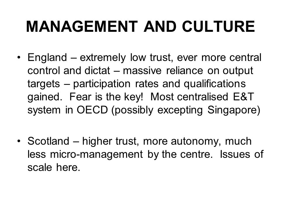MANAGEMENT AND CULTURE