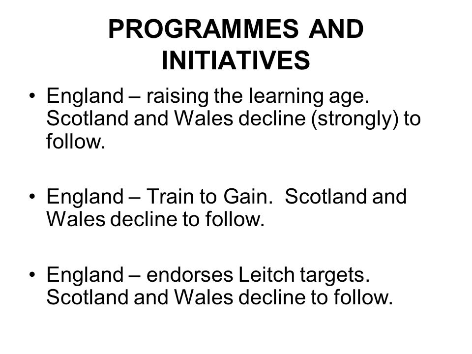 PROGRAMMES AND INITIATIVES