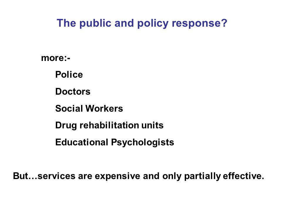 The public and policy response