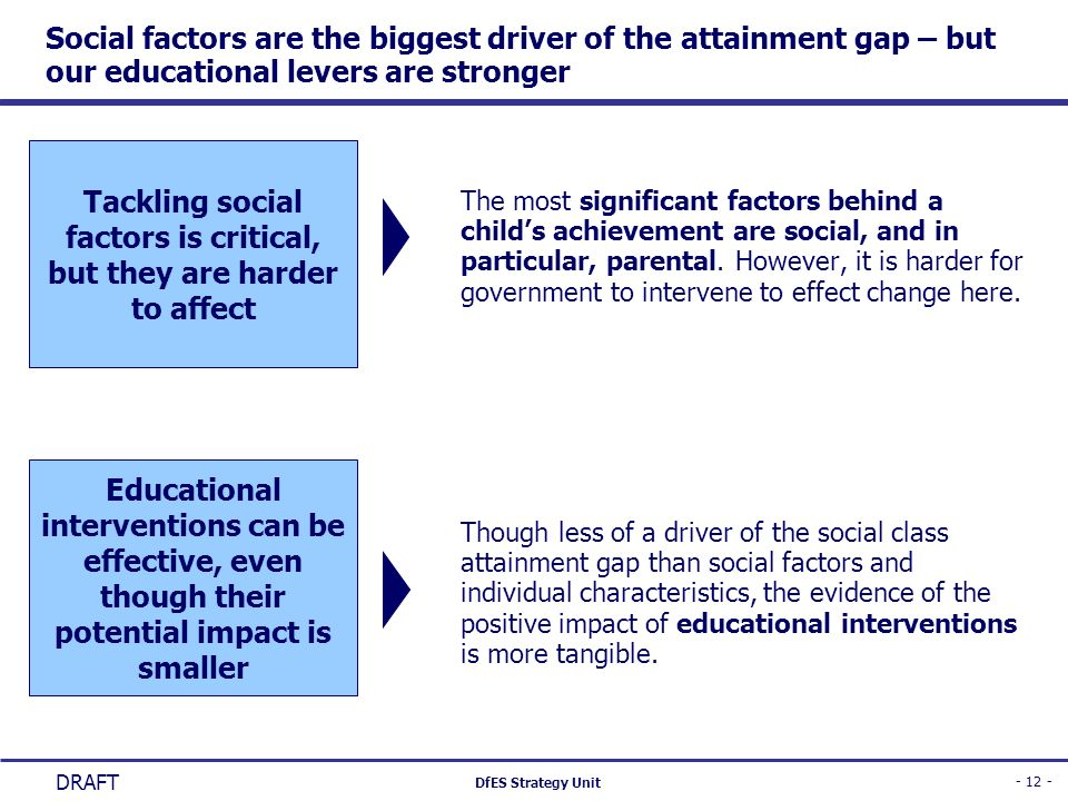 Tackling social factors is critical, but they are harder to affect