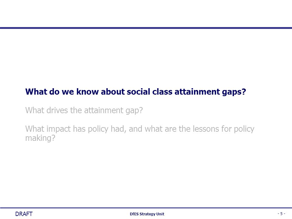 What do we know about social class attainment gaps
