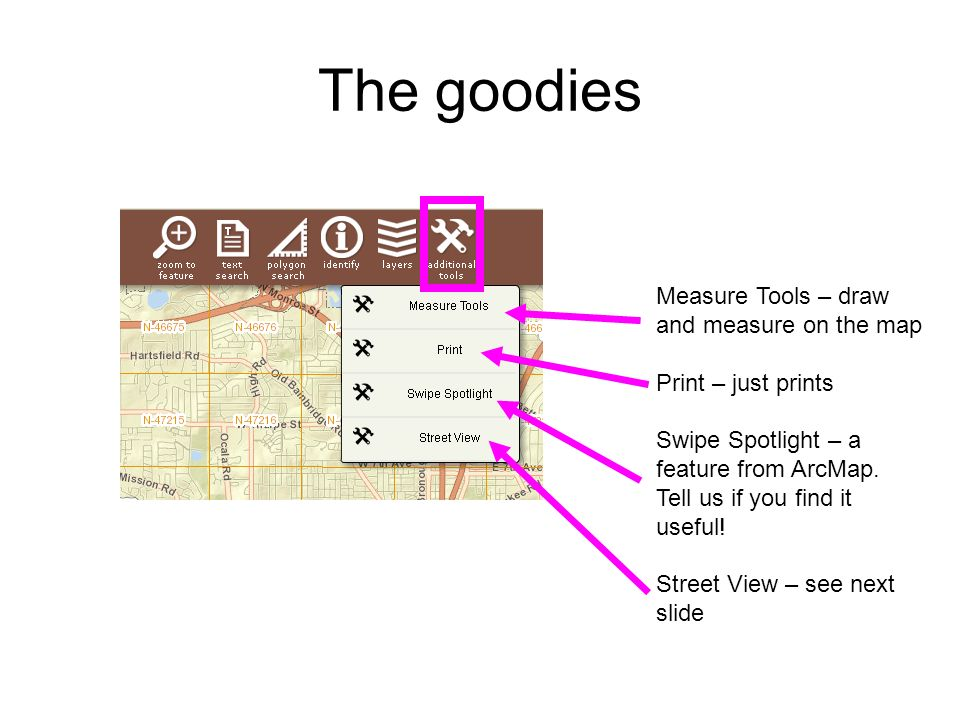 The goodies Measure Tools – draw and measure on the map