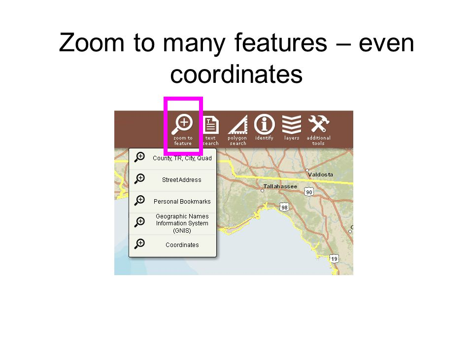 Zoom to many features – even coordinates