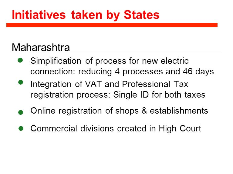 Initiatives taken by States